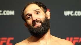 UFC middleweight Johny Hendricks at morning weigh-ins for