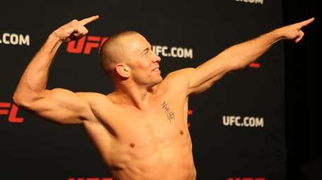 Georges St-Pierre weighed in at 184.4 pounds during