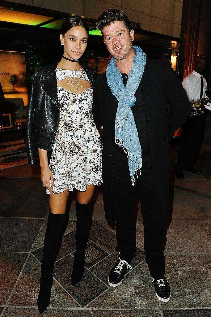 Model April Love Geary and boyfriend, singer-songwriter Robin