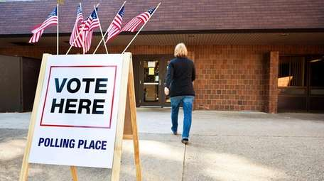 A polling place.