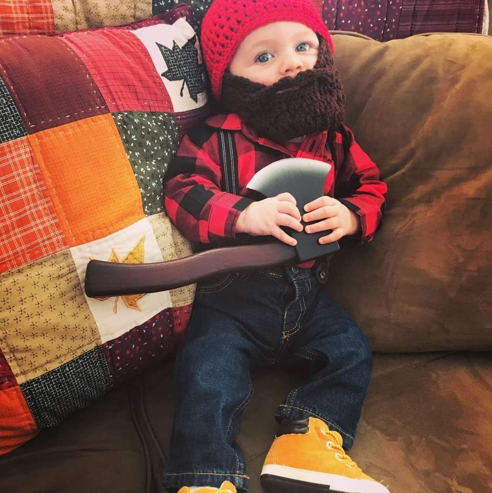 Mr.Landon the lumberjacks first Halloween