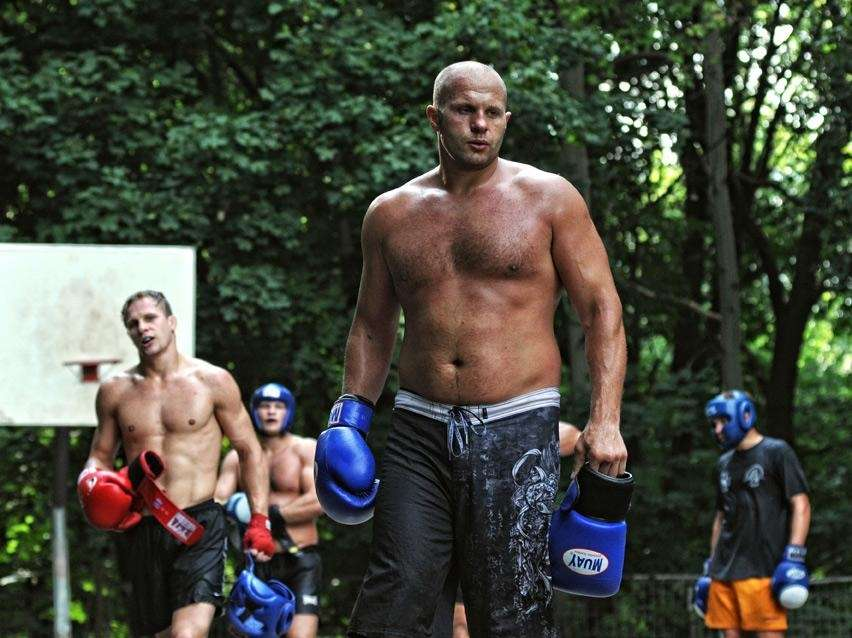 Fedor Emelianenko at training camp in Stary Oskol,
