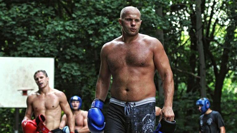 Fedor Emelianenko at training camp in Stary Oskol,
