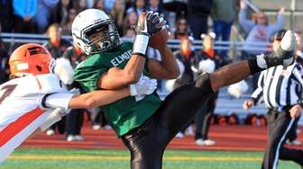 TD catch by Elmont's Chester Anderson during a