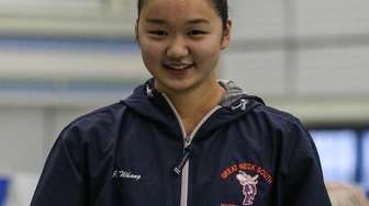 Jessica Whang shows off her winning plaque at