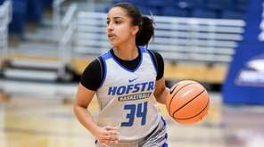 Hofstra's Boogie Brozoski dribbles the ball during practice on