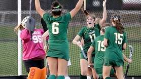 Lakeland's Julianna Cappello reacts after scoring what would