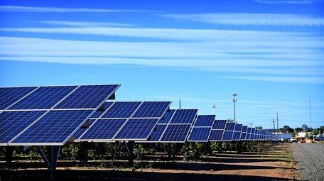 A solar farm on Edison Avenue in West
