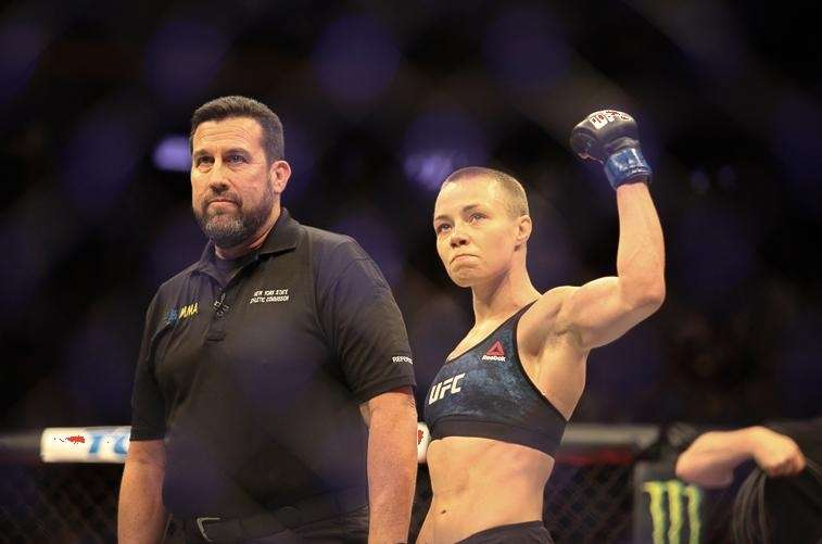 Rose Namajunas won the strawweight title at UFC