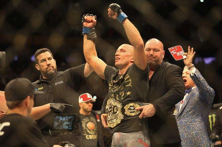 UFC president Dana White puts the middleweight title