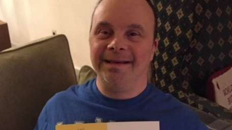 James Pascucci, 50, of Glen Cove holds a