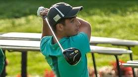 Port Jefferson junior golfer Shane DeVincenzo sinks his