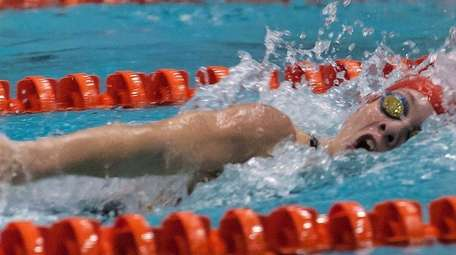 Sacred Heart's Joanie Cash competesin the 400-yard freestyle