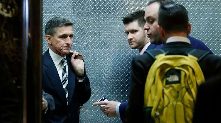 Michael Flynn, left, and his son Michael G.