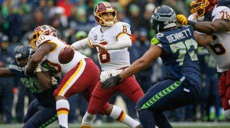 Quarterback Kirk Cousins of the Washington Redskins passes