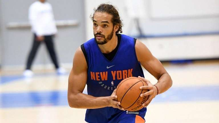Joakim Noah during Knicks training camp at the