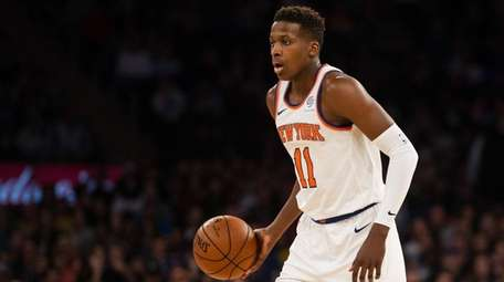 Knicks guard Frank Ntilikina  in the first quarter
