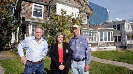 Property owner Joseph Petrocelli, left, Riverhead Town Councilwoman