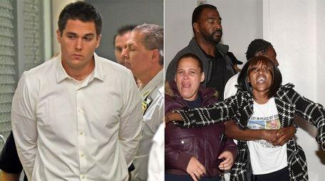 Christopher Bouchard, left, is arraigned in court