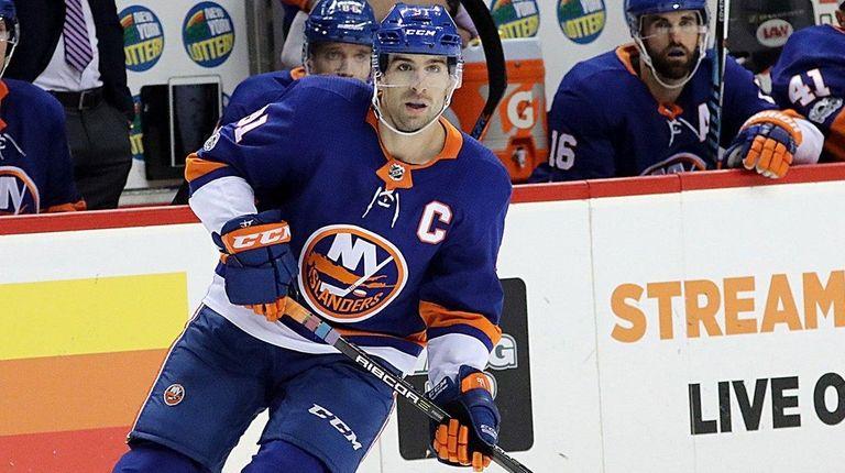 Islanders center John Tavaresskates against the Avalanche on