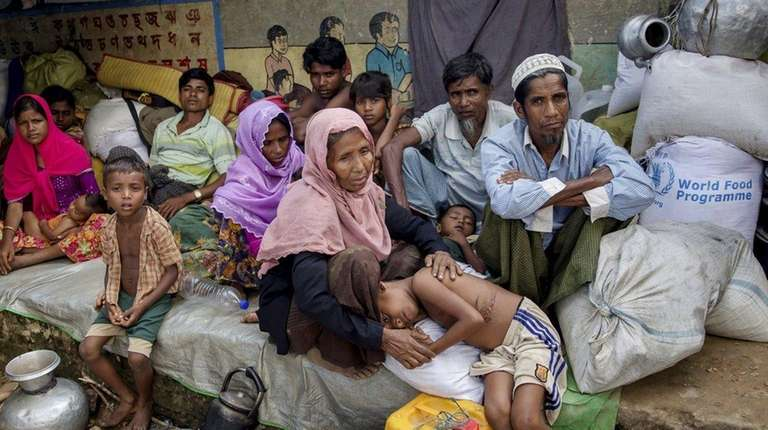 Rohingya Muslims, who crossed over from Myanmar into