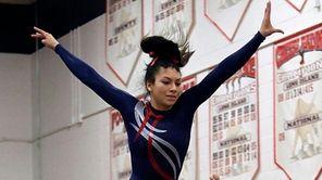 Smithtown District's Brittney Viera during her winning balance