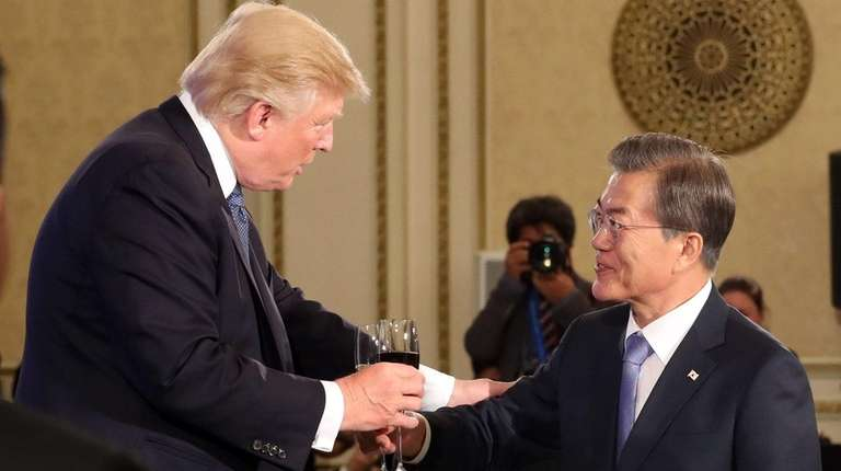 President Donald Trump and South Korean President Moon