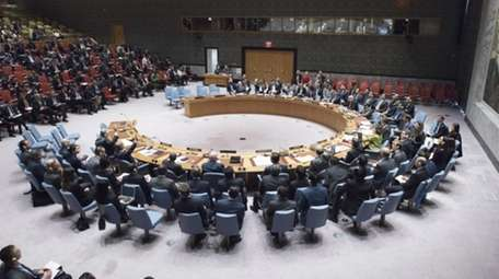 The U.N. Security Council meets on the use