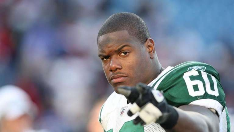 Tackle D'Brickashaw Ferguson of the New York Jets