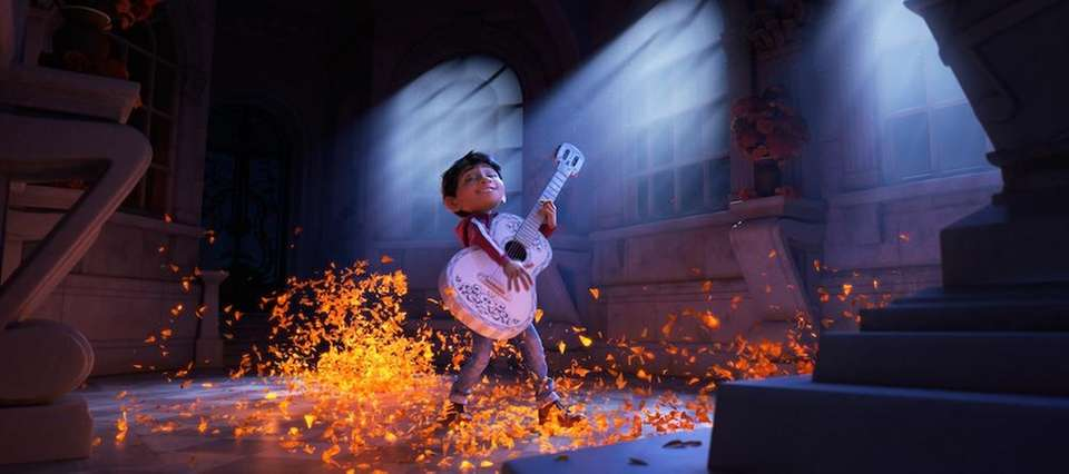 In the movie, Miguel refurbishes an old guitar
