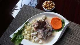 The Ceviche Mixto at La Vicharra Grill in