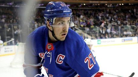 The Rangers' Ryan McDonagh looks on against the