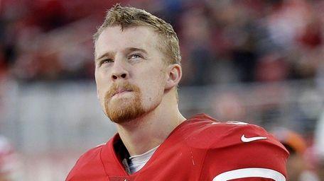 San Francisco 49ers quarterback C.J. Beathardstands on the