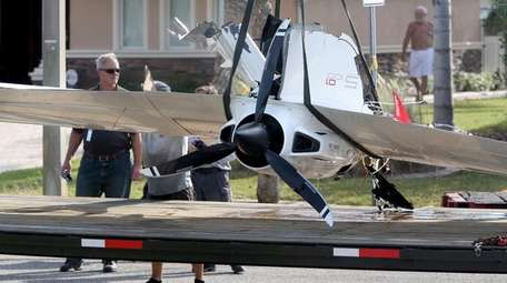 The remains of Roy Halladay's ICON A5 ultralight