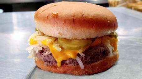 A steamed Impossible burger at BBDs in Rocky