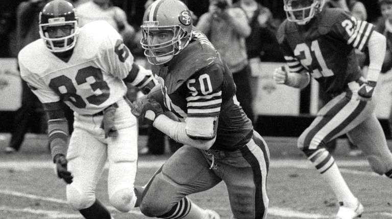San Francisco 49ers linebacker Riki Ellison after an