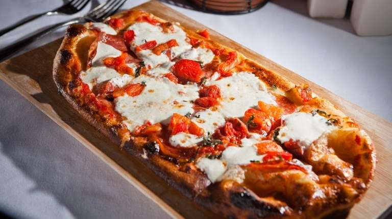 The diavolo flatbread is served at City Cellar