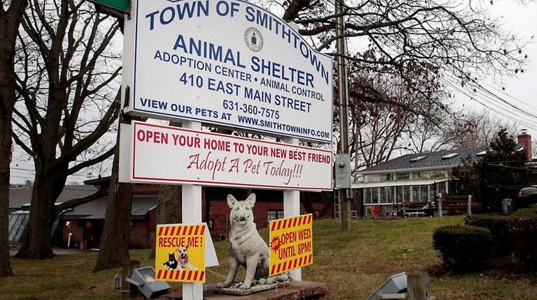 Outside of the Smithtown Animal Shelter as seen