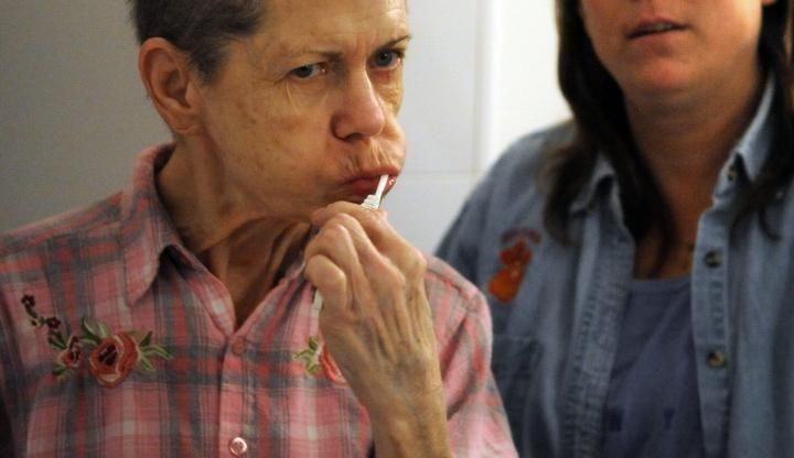 Alzheimer's disease has rendered Emma Decker childlike, so