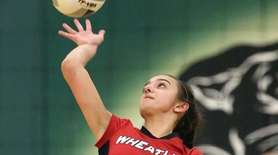 Wheatley's Irene Lountzis serves during the Nassau Class