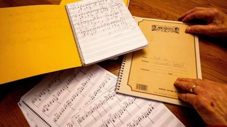 Some of Jacobs' notebooks with his compositions. He