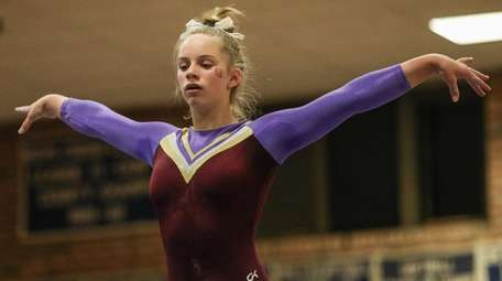 Kerin Spadaro of Bay Shore/Islip competes at the