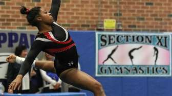 Nicole Jackson of Half Hollow Hills competes at