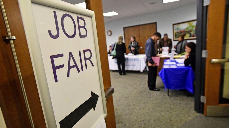 A job fair in Sayville recently. A key