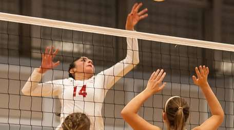 Connetquot's Kiarra Roth goes for the kill as