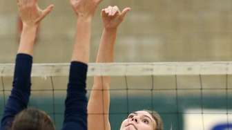 South Side's Colleen Farrell goes up for the