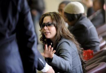 Karla Giraldo waits to testify against her boyfriend,