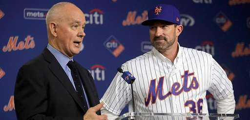 Mets general manager Sandy Alderson introduces MIckey Callaway