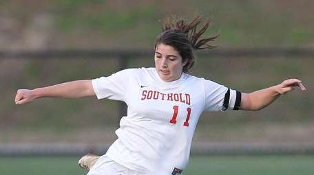 Southold/Greenport's Grace Syron during the Southeast Regional soccer