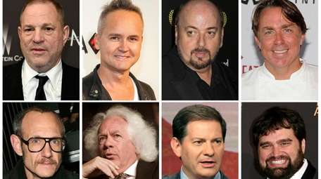 Top row from left, film producer Harvey Weinstein,